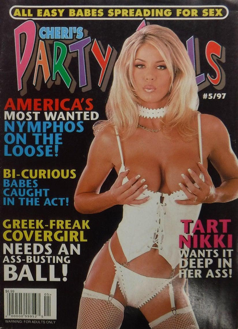Cheri Party Girls # 5 magazine back issue Cheri's Party Girls magizine back copy