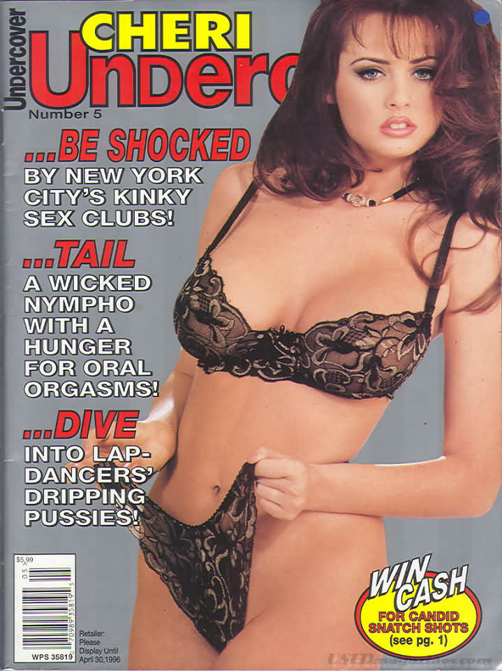 Cheri Undercover # 5 magazine back issue Cheri Undercover magizine back copy