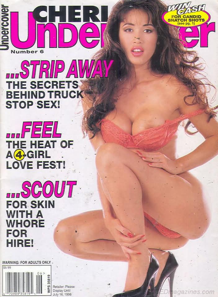 Cheri Undercover # 6 magazine back issue Cheri Undercover magizine back copy