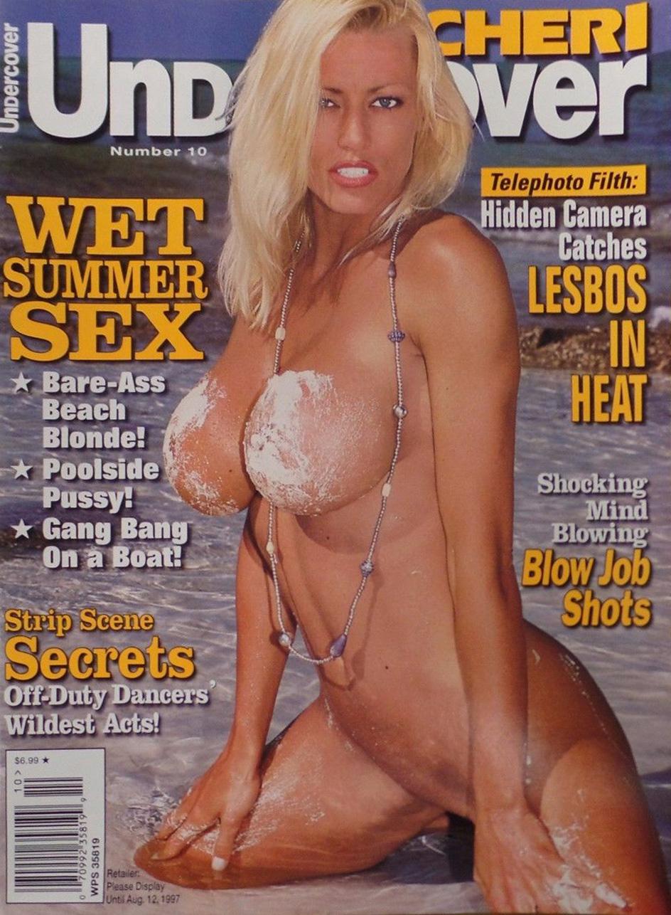 Cheri Undercover # 10 magazine back issue Cheri Undercover magizine back copy