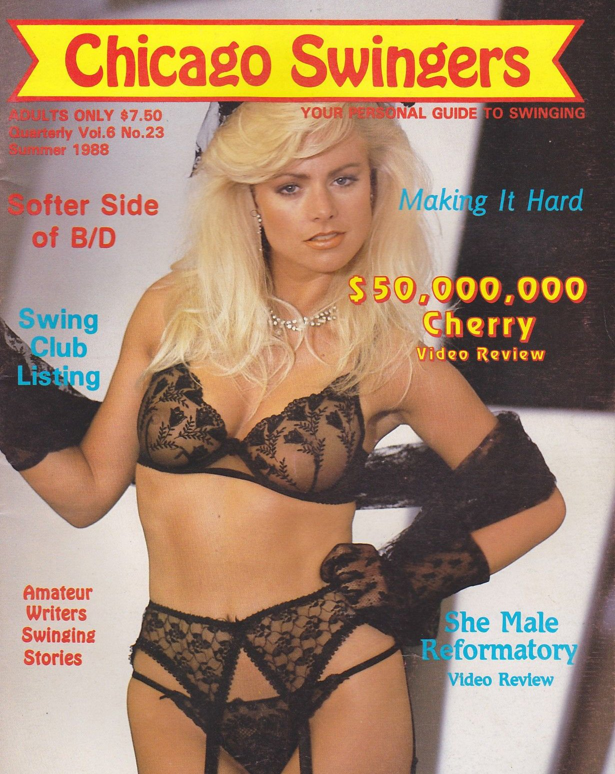 Chicago Swingers # 23 magazine back issue Chicago Swingers magizine back copy