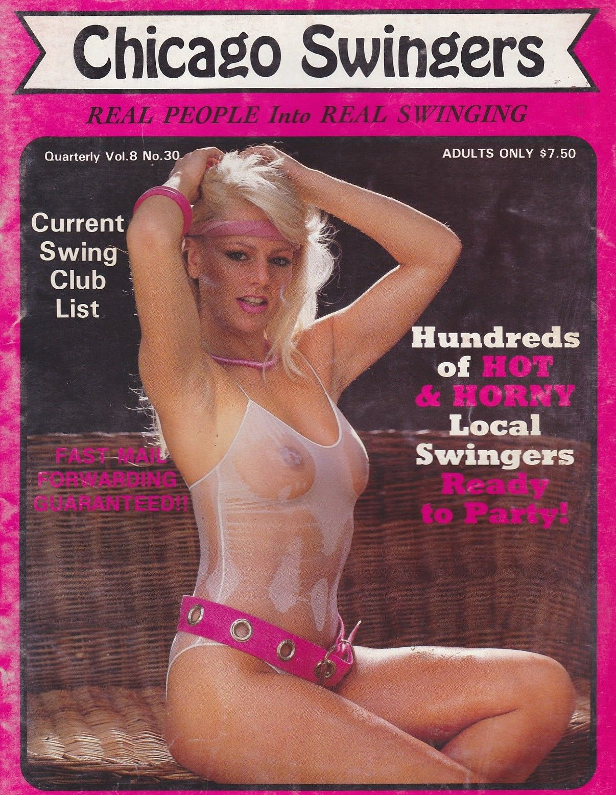 Chicago Swingers # 30 magazine back issue Chicago Swingers magizine back copy