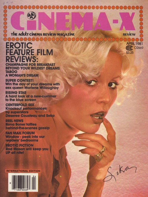Cinema-X Review April 1981 magazine back issue Cinema-X Review magizine back copy cinema-x review magazine 81 back issues porno flick photos reviews xxx pix nude girls explicit sex p