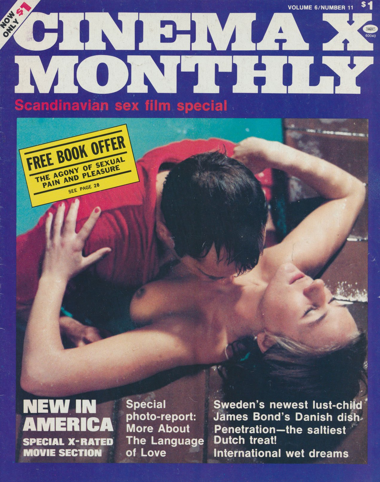Cinema-X Monthly Vol. 6 # 11 magazine back issue Cinema-X Monthly magizine back copy