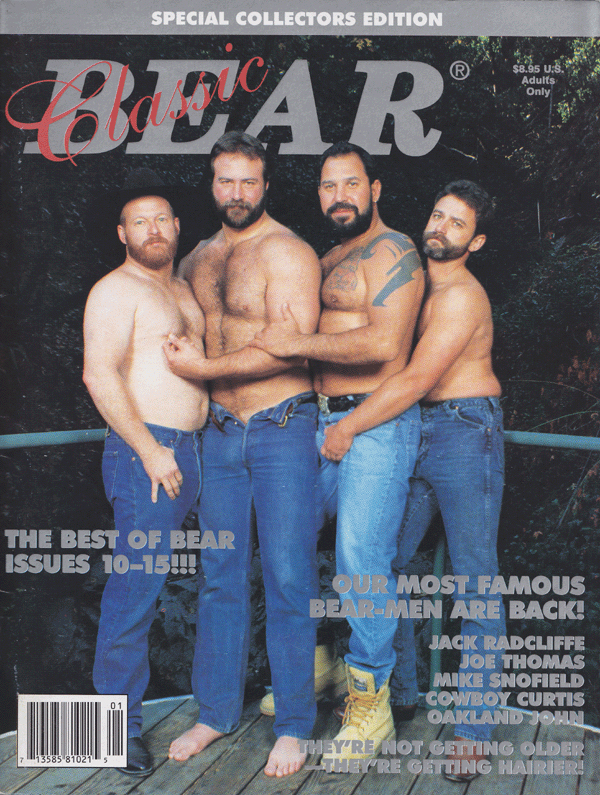Classic Bear February 1996 magazine back issue Classic Bear magizine back copy Best of  bear,famous bear men,getting hairiercowboy,smutty past,alligator daddy, becoming bear