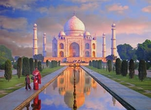 Taj Mahal India Agra Palace TajMahal 1000 Piece JigsawPuzzle Clementoni puzzles italy tajmahalindia