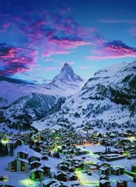 Matterhorn Mountain Alps 1000 Piece Jigsaw Puzzle Made by Clementoni # 30771 matterhorn