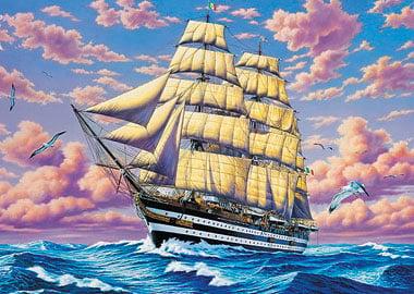 Clemmy Puzzle Jigsaw Type Tall Ship modern art tallship