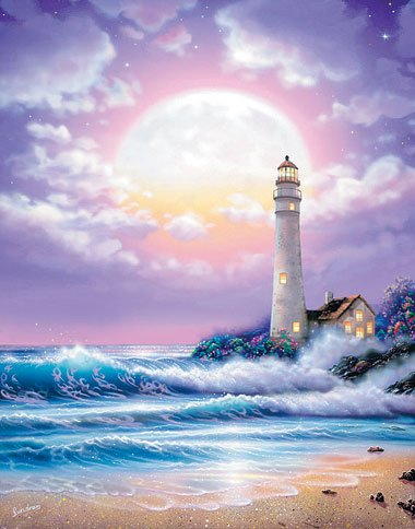 lighthouse jigsaw puzzle by clementoni aka ravensburger, 1000-pieces puzzle of a lighthouse lighthouse