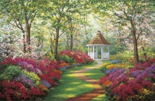 clementoni jigsaw puzzle, 1000-pieces a world away retreat puzzle, peaceful images aworldaway