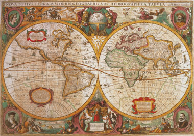 clementoni jigsaw puzzle 1000 pieces of earth old map, map puzzles and images oldmap1000