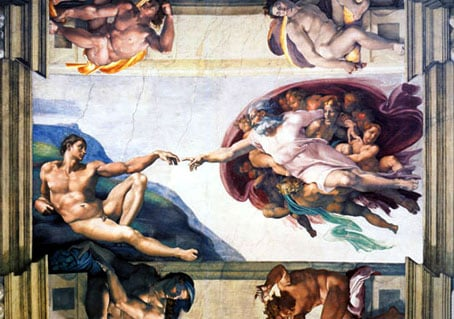creation of man painted by michelangelo, 1000 pieces jigsaw puzzle by clementoni creationofman