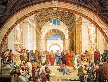 Raphael's painting School of Athens Jigsaw Puzzle manufactured by Clementoni JigsawPuzzles Italy schoolofathens
