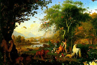 clementoni jigsaw puzzle 100 pieces scene depicting adam and eve by artist w. peter adamandeve