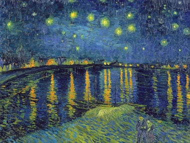 VincentVanGogh painting StarryNight Jigsaw Puzzle # 314072 by Clementony Puzzles now Ravensburger starrynightontherhone