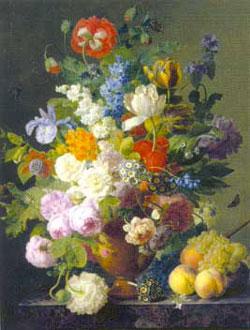 JansFrans vanDael still paintings flowers & fruit jigsaw puzel one thousand pieces classic detail vaseofflowersmuseumcollection