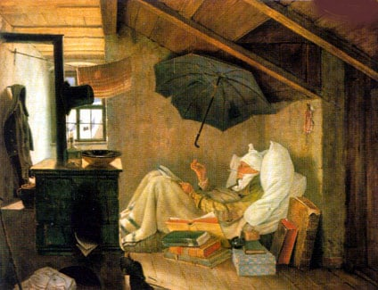 painting puzzle by clementoni, 1000 pieces jigsaw puzzle by artist spitzweg, poorpoet