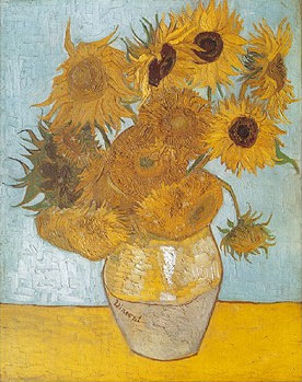 VincentVanGogh painting Sunflowers Jigsaw Puzzle # 314072 by Clementony Puzzles now Ravensburger sunflowers-van-gogh-jigsaw-puzzle