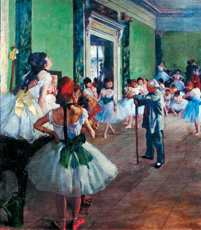 Clementoni Jigsaw Puzzle 1000 Pieces by Hilaire Germain Edgar Degas of his Dancing Class painting the-dancing-class-degas-clementoni