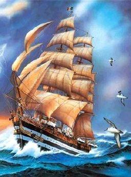 Clemmy Puzzle Jigsaw amerigo vespucci tall sail ship amerigo-vespucci-tall-sail-ship