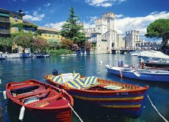 italy lake garda, 1000 pieces clementoni jigsaw puzzle lakegardaitaly