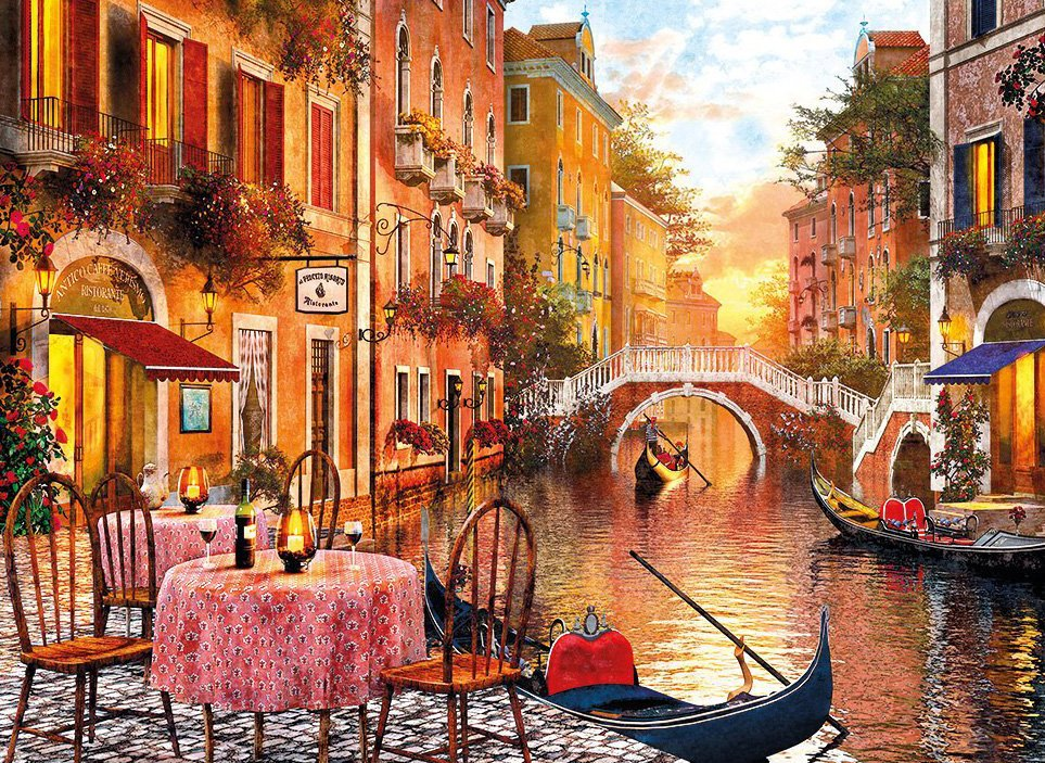 Venezia 1500 Piece Jigsaw Puzzle # 31668 made by Clementoni Italian Puzzle Makers venezia-1500