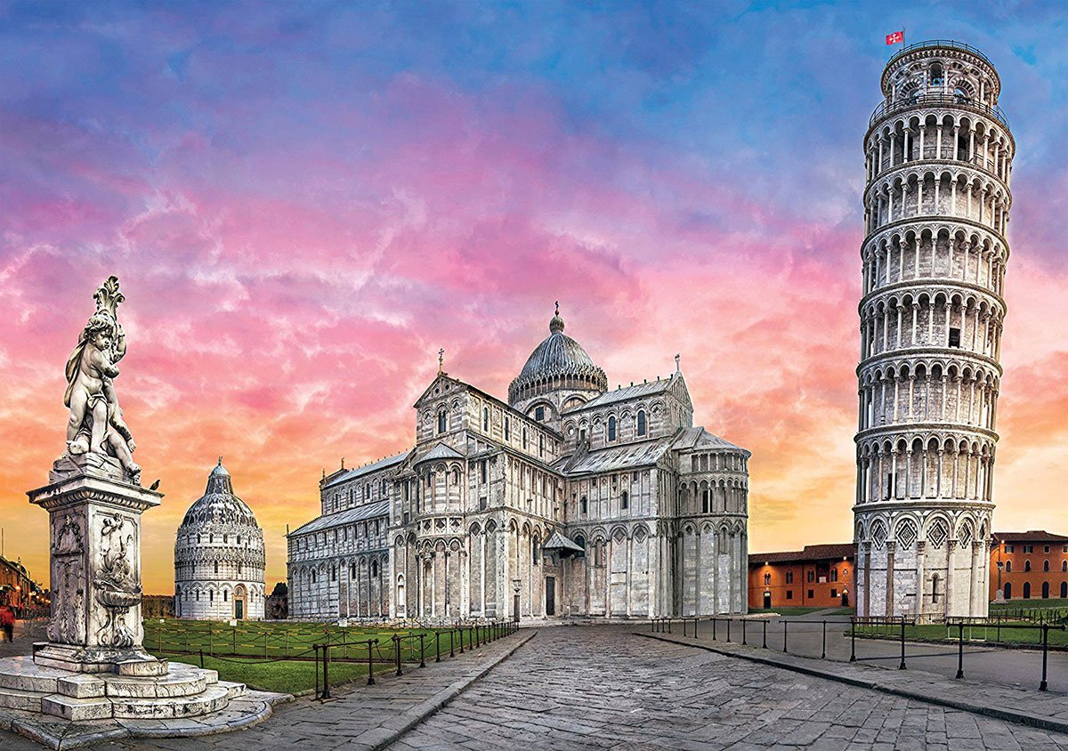 Leaning Tower of Pisa Rome Italy 1500 Piece JigsawPuzzle Clementoni puzzles italy pisa-1500