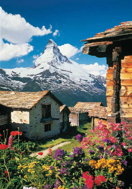 Matterhorn Mountain Alps 1500 Piece Jigsaw Puzzle Made by Clementoni # 31968 matterhorn-1500