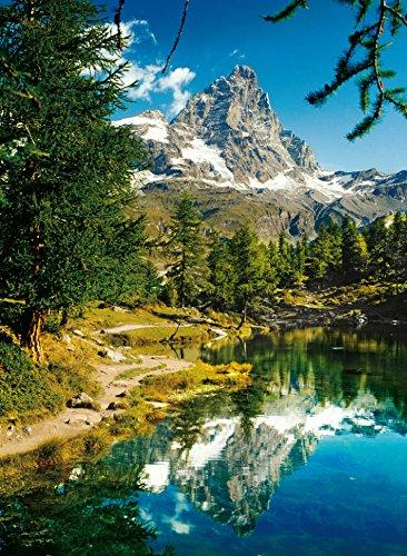 Matterhorn Mountain Alps 1500 Piece Jigsaw Puzzle Made by Clementoni # 31990 matterhorn-in-the-mirror