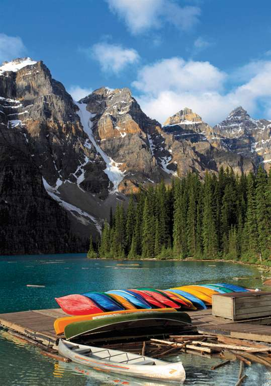 moraine lake banff national park alberta canada jigsaw puzzle, 1500 pieces clementoni landscape puzz moraine-lake