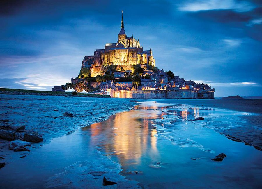 Mont Saint Michel 1500 Piece JigsawPuzzle Clementoni puzzles france europe mont-saint-michel-1500