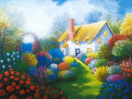cottage jigsaw puzzle by clementoni, 2000 pieces jigsaw puzzle cottageclementonipuzzle
