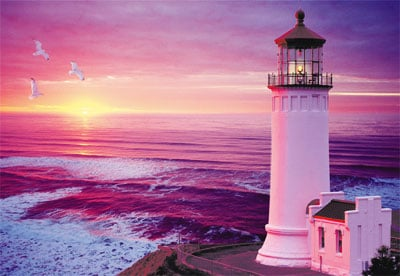 lighthouse sunset jigsaw puzzle by clementoni, 2000 pieces, lighthousesunset