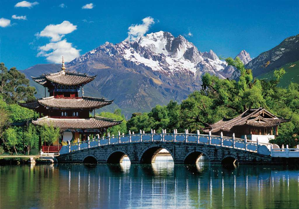 lijiang china jigsaw puzzle by clementoni, 2000 pieces puzzel made in italy lijiang-china