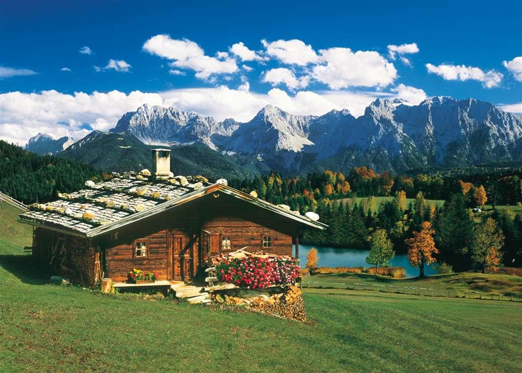 alpen landscape jigsaw puzzle, 2000 pieces clementoni puzzle alpen-landscape