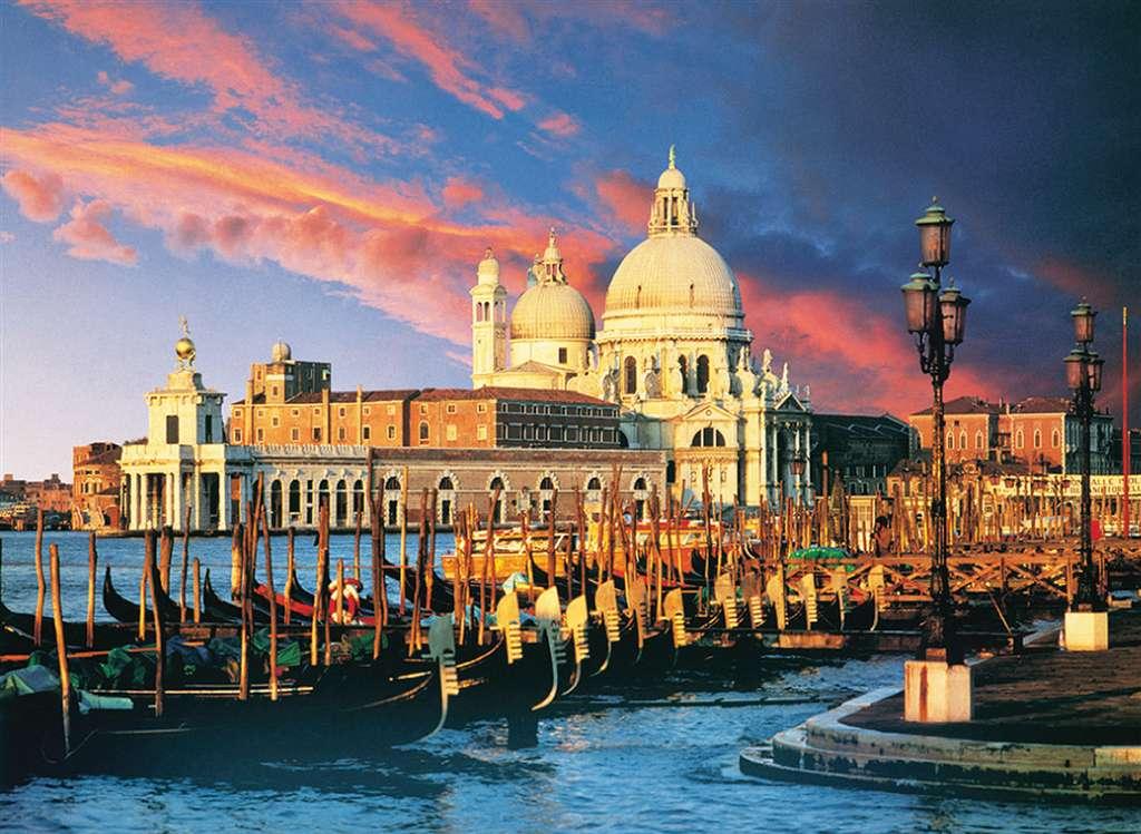 Gondolas at St. Mark's Basilica in Venice 4000 Piece Jigsaw Puzzle Clementoni puzzles 34505 gondolas-st-marks