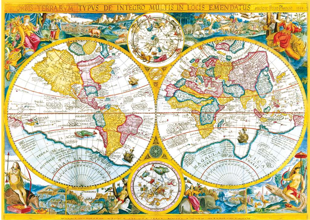 clementoni jigsaw puzzle 4000 pieces of earth old map, map puzzles and images antique-carta