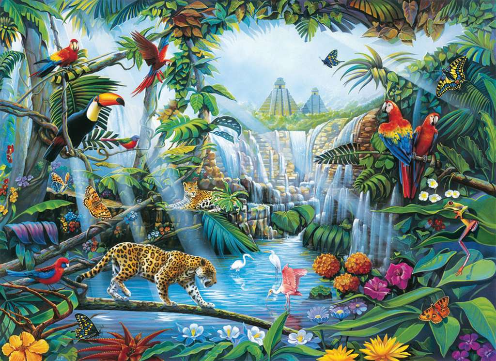 6000 Piece jigsaw puzzle titles Forest made by Clementoni item # 36512 Italian Made forest-clementoni-6000