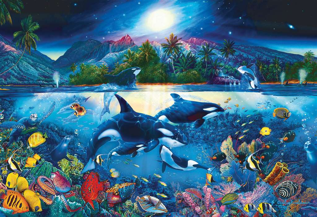 Christian Riese Lassen painting majestic kingdom under the sea 6000 Piece Jigsaw Puzzle by Clementon majestic-kingdom