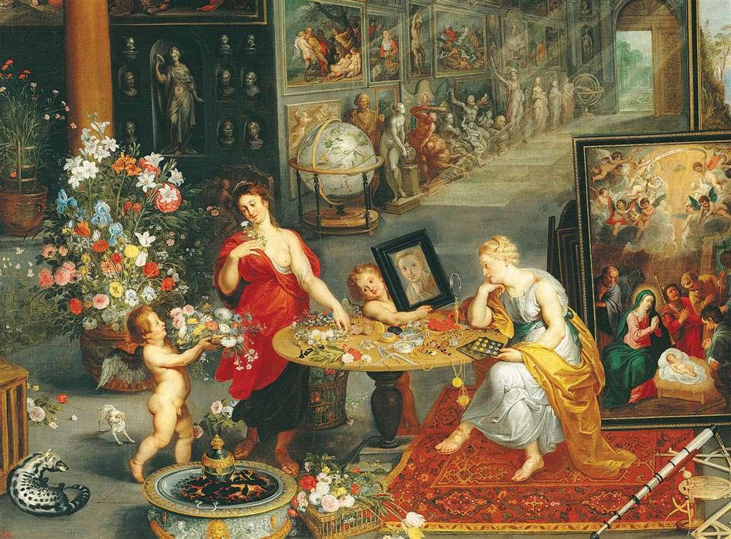 Pieter Brueghel's painting Allegoria della vista 6000 Piece Jigsaw Puzzle by Clementoni # 36515 allegoria-della-vista-e-dell-olfatto