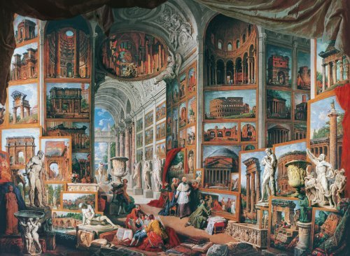 GiovanniPaoloPannini MuseumSeries JigsawPuzzles manufacturer Clementoni Italy Puzzle Maker 1000Piece ancient-rome-museum-series-6000