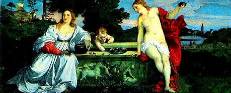 love replica tiziano painting, 9 feet wide puzzle 13200 pieces by clementoni love