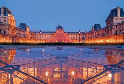 louvre museum paris france jigsaw puzzle by clementoni, 1000 pieces, travel collection louvre-museum