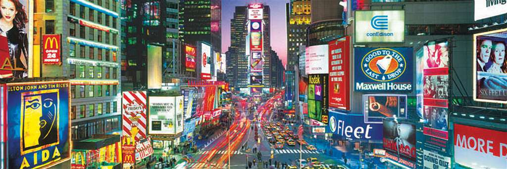 clementoni jigsaw puzzle 1000 pieces of new york travel series panorma 391080 times-square-panoramic