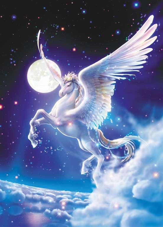 1000 Piece Jigsaw Puzzle ClementoniPuzzles Pegasus photographic fantasy fluorescent image pegasus