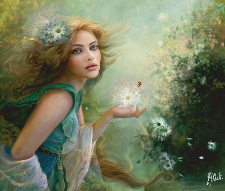 fairies line of clementoni jigsaw puzzles titled herald of spring portrait of a beautiful young fair herald-of-spring