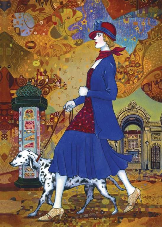 Clementoni Jigsaw Puzzle 1000 Pieces Helena Lam painter afternoon stroll 2009 afternoon-stroll-helena-lam
