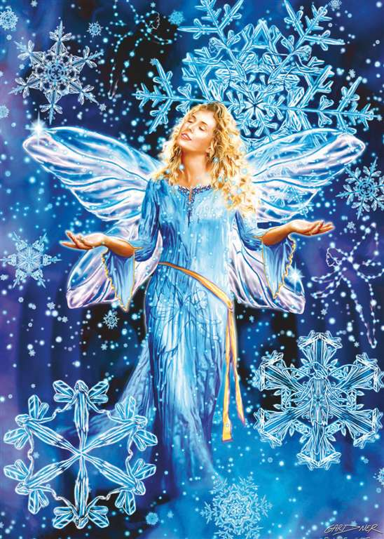 fluoresecent hidden images clementoni jigsaw puzzle 1000 piecves snowflake fairies snowflake-fairies