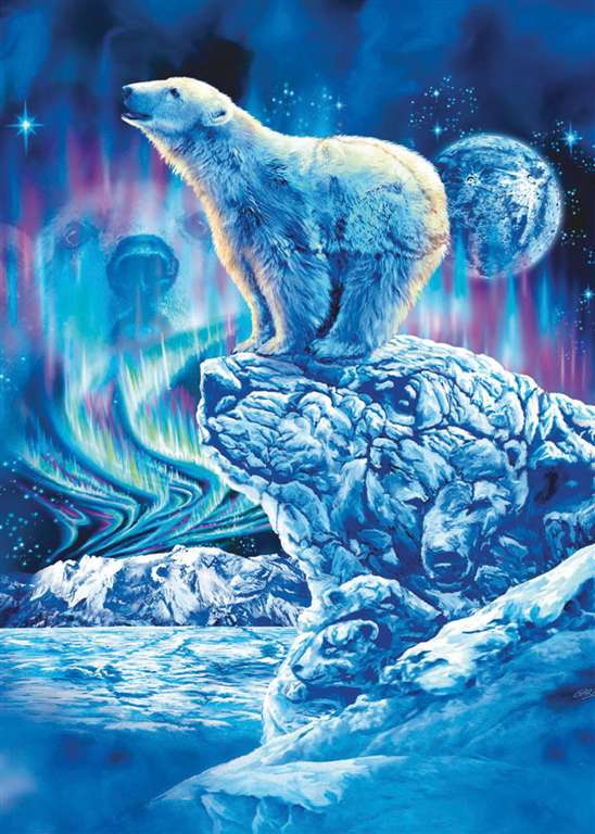 fluoresecent hidden images clementoni jigsaw puzzle 1000 piecves polar bears polar-bears