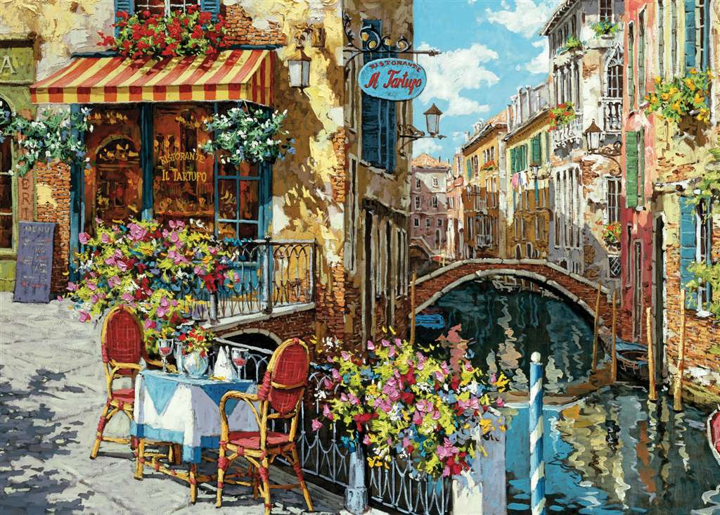 jigsaw puzzle tartufo restaurant fantasy 1000p ieces beautiful clementoi design victor shvaiko tartufo-restorant